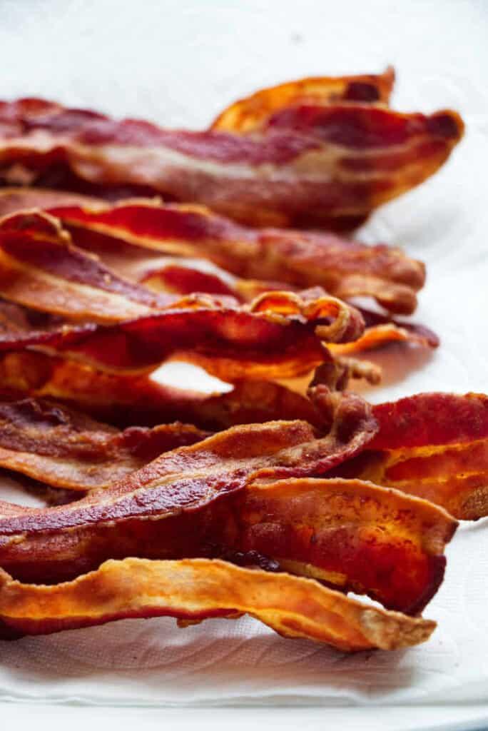 A pile of crispy a fried bacon