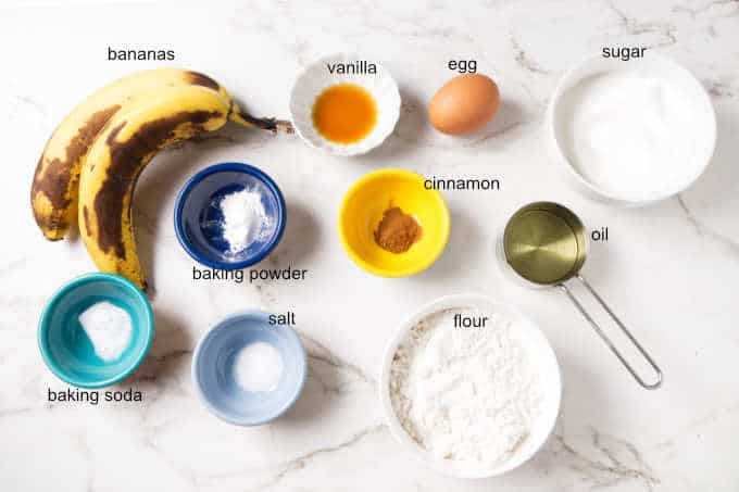 ingredients for banana bundt cake