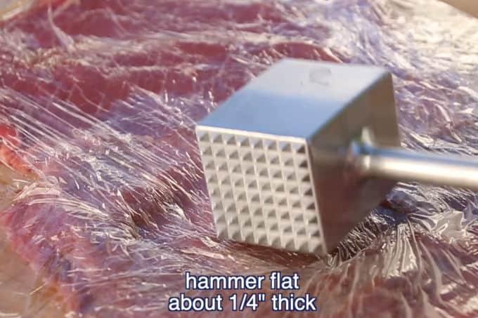 hammering flanks teak thin