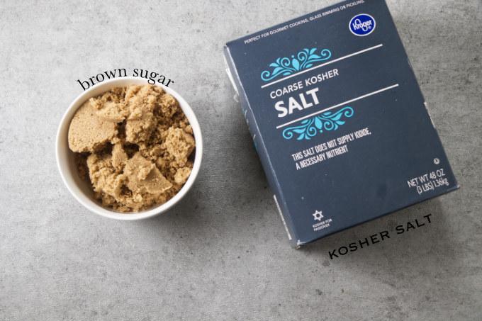 Ingredients used to brine a salmon.
