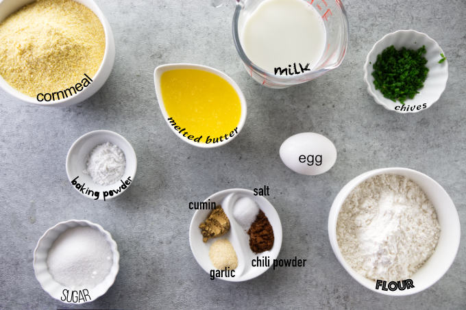 Ingredients used to make air fryer corn dogs from scratch.